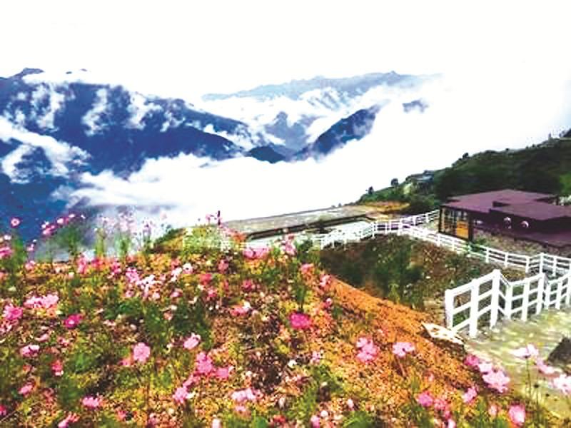 微信海边吉祥风景雪山