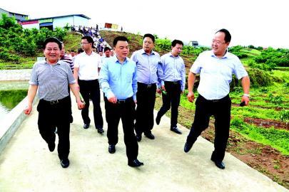 市委常委、达川区委书记许国斌(中)、达川区人民政府区长向建平